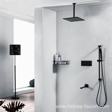 Cold And Hot Three Function Black Shower Faucet