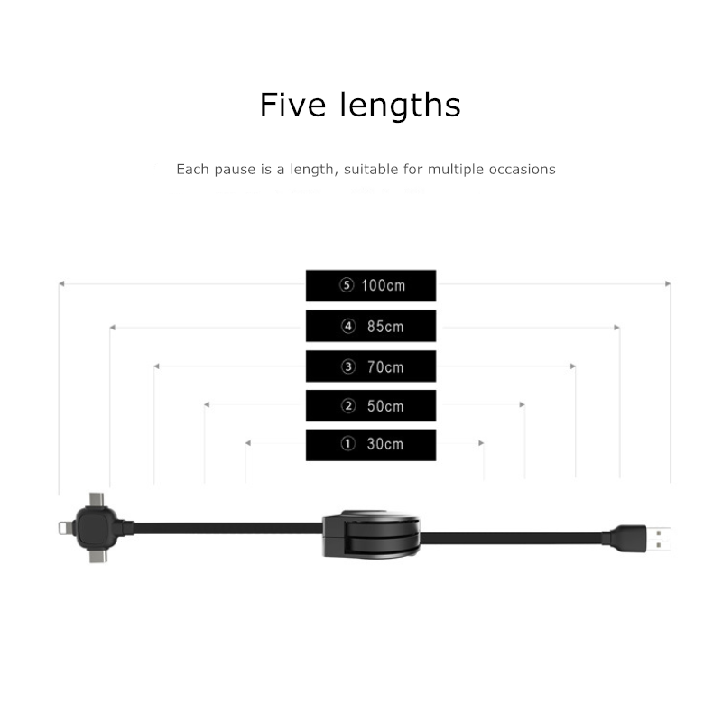 3 in 1 telescopic data cable..-