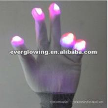 gants de fête rougeoyants