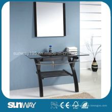 2014 Hangzhou Modern Design Mirrored Tempered Glass Basin