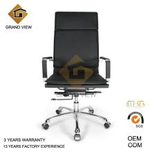 Cuero negro sillas espalda alta (GV-OC-H305)