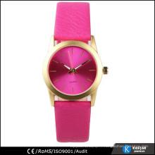 Simple montre cuir en cuir montre montre mode femme plus tard