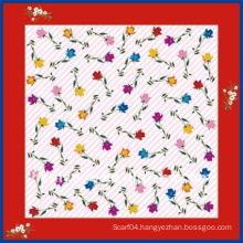 latest fashion flower print scarf