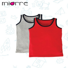 MIORRE OEM KID'S BOY NEW 2017 COLLECTION PLAIN COTTON DIFFERENT COLORS 2 PACK TANK TOPS