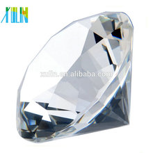 Presente de lembrança de cristal personalizado claro diamante de cristal para lembranças de casamento