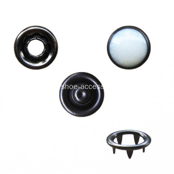 White Pearl Prong Snap Button for Garment
