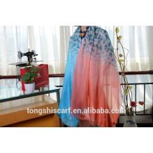 Последний модный леопарда печатных длинный шарф шаль и лучшие продажи зигзаг шифон шарф