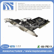 PCI to 2 Dual COM RS232 Serial I/O Port Card Adapter