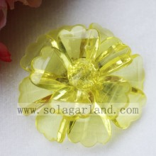 50MM Plastic Crystal Bead Flowers Handmade Artificial Flowers
