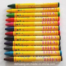 Crayons de cire non toxique d'usine de 12color