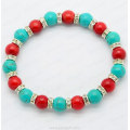 Bracelet Turquoise Corail Rouge