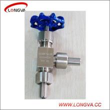 Válvula de aguja de alta presión forjada de acero inoxidable sanitario