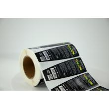 Etiqueta adesiva redonda personalizada de papel sintético à prova d'água