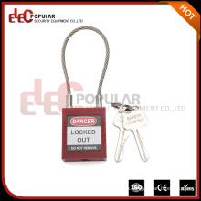 Elecpopular Venta en línea 40Mm profesional ISO ISO Cable de seguridad de bloqueo