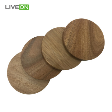 4pcs Acacia Wood Coaster