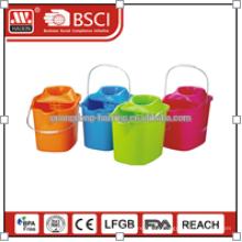 Virgin plastic with wheels mop bucket