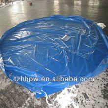self-clearing & high tensile PVC round tarpaulin