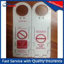New Plastic Scaffold Safety Tag with Insert Inspection Record