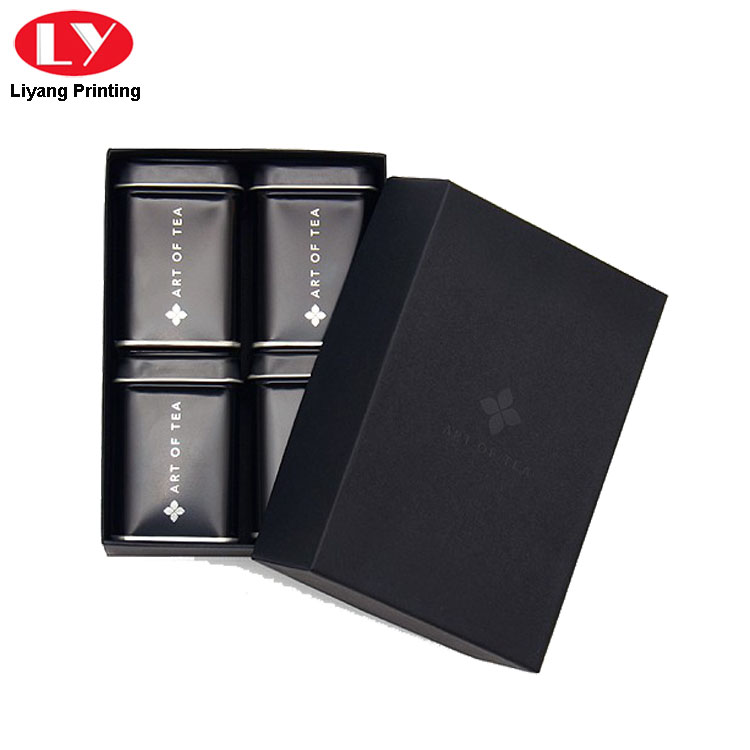 Black Paper Tea Box