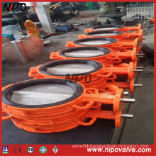 Wafer/Lug Type Centre Sealing Rubber Lining Butterfly Valve