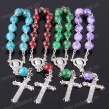 Heißer Verkaufs-Glasperlen-Art- und Weisearmband mit Kreuz