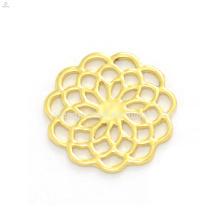 Stilvolle design 22mm gold zink-legierung blume fenster schwimm charme klarglas medaillon anhänger platten großhandel