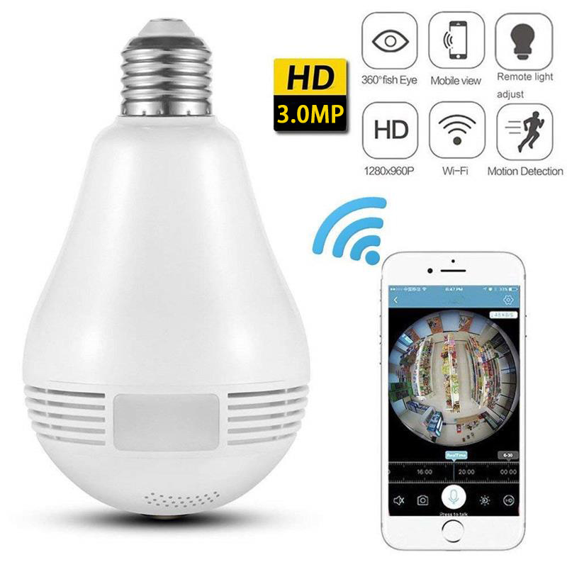 Mini Spy Camera In Light Bulb