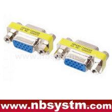 VGA cambiador de género, db15 hembra a db15 hembra adaptador azul