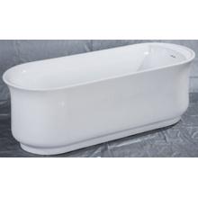 Hochwertige glatte freistehende Badewanne