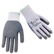 Commercial 15G Nylon Spandex Nitrile Superthin Foam Gloves with Topflex Grey Black