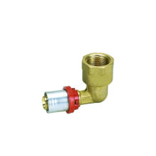 Codo femenino (ajuste de prensa) (Hz8506) de tubo de plástico de aluminio