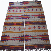 Tissu rayonne imprimé de Rayon Challis de conception florale tissée, 100% tissu de viscose de viscose, tissu de viscose pour l'habillement