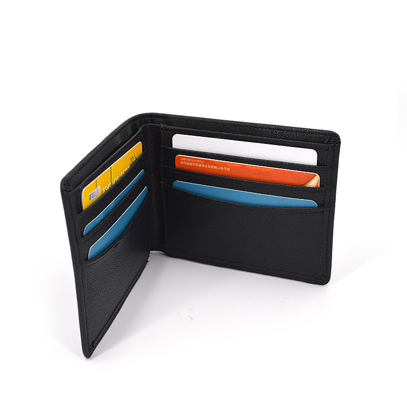 Custom Logo Wallets Simple Style Men Leather Wallets