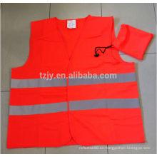 100% poliéster EN20471 tráfico de seguridad reflectantes chalecos con una bolsa de