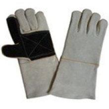 Safety cow spilt leather welding work gloves ZM74-H