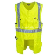 Men's Yellow High-Visibility Reflective Safety Vest