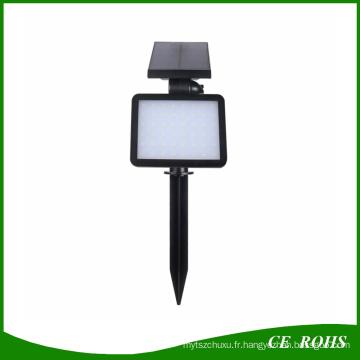 Nouvelle Arrivée 48 LED Solaire Lumière Extérieure Étanche Solaire Puissance Projecteur Jardin Pelouse Lampe Paysage 5 Modes Spot Lumières