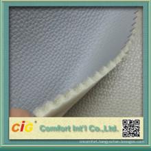 pu bonded leather/pu sponge leather/smooth leather with flocking backing