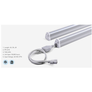 Lumière de tube LED en aluminium dimmable T8 5000K 6ft