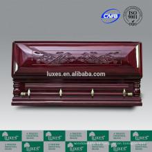 Servicio de funeral LUXES mejor precio cofrecillos de longevidad-Dragon chino tallado ataúd de madera