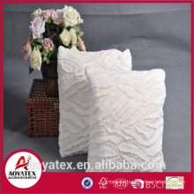 New design embossed coral fleece cushion, fashional cushion with filling, coral fleece cushion made in china