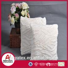 Новый дизайн тиснением коралловый валик флис, модное подушка с начинкой, коралловый подушка овечья шерсть сделано в Китае