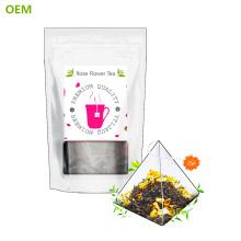 VENTA SUPERIOR Bolsas de té de pirámide de nylon simplemente biodegradables
