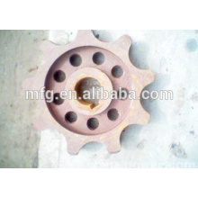 Ferro fundido chian roda para caldeira / pinhão
