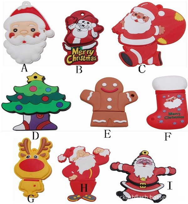 Christmas Stock Promotion Gift Usb Flash Drive