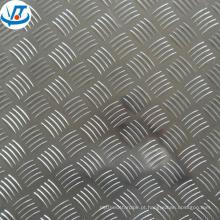Chapa de alumínio xadrez 3003 alumínio 5 bar xadrez placas para piso anti-derrapante