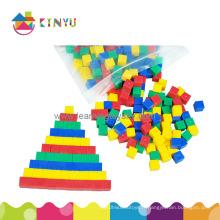 Éducation, maths, jouet, plastique, centimètre, comptage, cubes