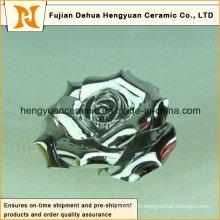 Multiple Colors Electroplate Ceramic Flower (home decoration)