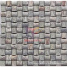 Green Marble Curve Shape Mosaic Tile (CFS902)