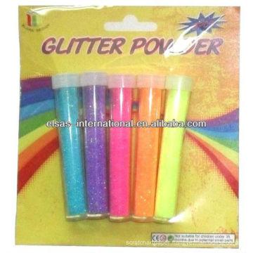 Neon glitter powder painting